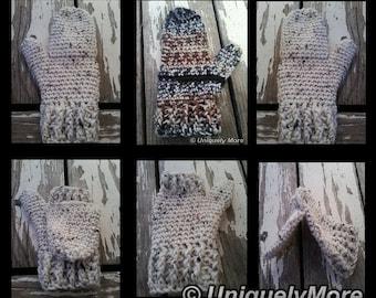 Crochet Pattern,Flip Mittens,Instant download,Crochet Mittens, Mittens, Gloves, Crochet Instructions, DIY Mittens, Crochet Gloves