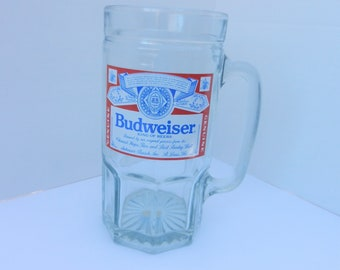 Budweiser 32 oz beer mug