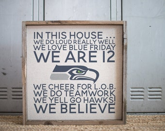 We Are 12  // 17x17 Handmade Sign