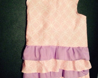 Pink and Purple Ruffle Dress