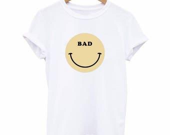 Smiley T-Shirt | Smile Face Shirt | Normcore, Tumblr Shirts, Hippie Shirt, Vaporwave Clothing, Aesthetic Tumblr, Kawaii, Grunge Clothing