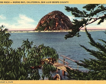Morro Bay, California, San Luis Obispo County, Morro Rock - Postcard - Vintage Postcard - Unused (Y)