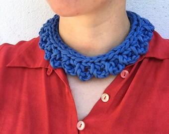 Colour pop bib necklace - Blue