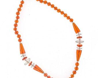 "Art Deco glass bead necklace, Czechoslovakia. 16"". nlad925(e)"