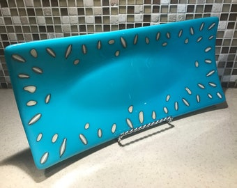 Turquoise Serving tray, Platter, Dish