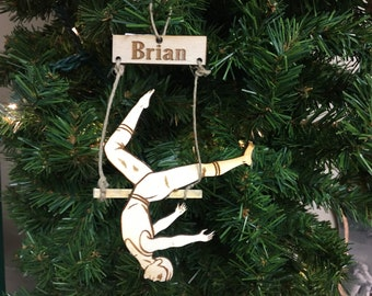 Trapeze #2 Personalized Christmas Ornament