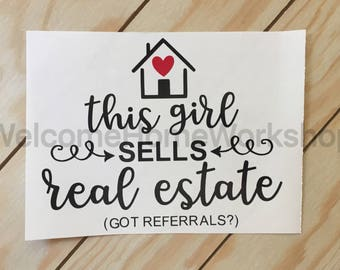 Vinyl Decal for Real Estate Agents, Brokers, Etc.