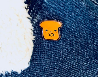Tostie the Bread -- Lapel Pin
