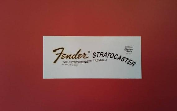 Custom 70's Stratocaster Waterslide Decal For Fender Guitars