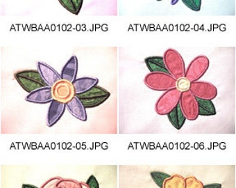 Floral-Delight-Applique ( 9 Machine Embroidery Designs from ATW ) XYZ17E