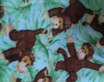 Jungle Babies Nursery Fleece Fabric