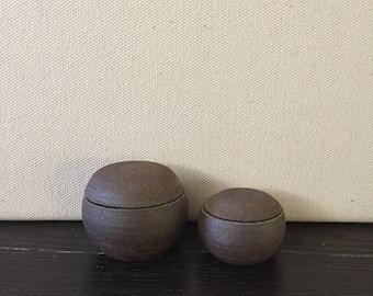 Set of 2: Tiny Globe Jars