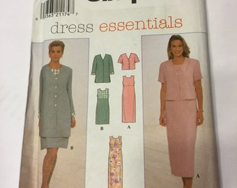 Simplicity 7965 Misses' Dress and Jacket, Size 8 - 12 or Size 14 - 18, UNCUT