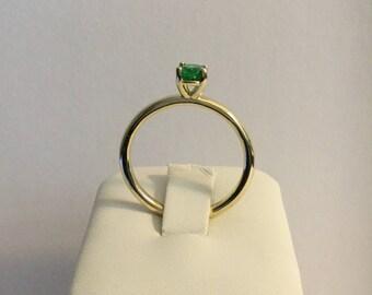 14K yellow gold Tsavorite Ring