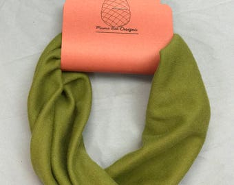 Stretchy green fabric turban headband great for yoga workout fitness