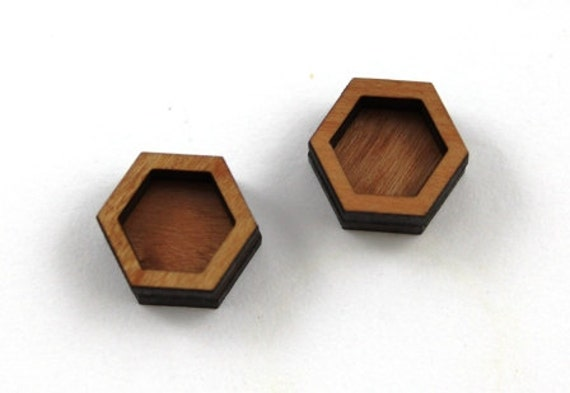 Laser Cut Supplies-8 Pieces.Bezel Hexagon Charms-Acrylic and Wood Laser Cut-Jewellery Supplies- Little Laser Lab Wood and Acrylic Products