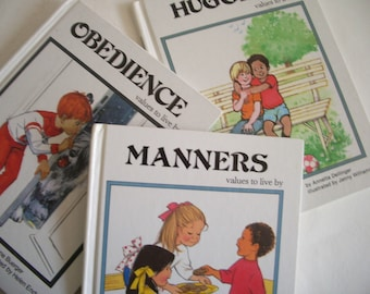 Values to Live By: Set of Three Children's Books, 1980s