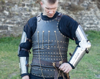 "Leather Brigandine ""Knight of Fortune""; Leather Armor; Body Armour; Custom Armor"