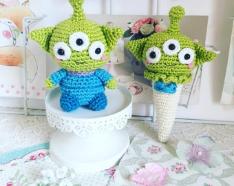Alien from Toy story doll or ice cream crochet amigurumi plush