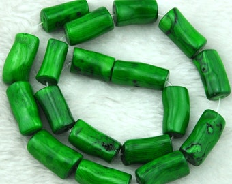 High Quality coral beads,One Full Strand,Coral Beads,green Coral Beads,green  Stone--about 11-14mmx20-30mm---16 inches---S0253