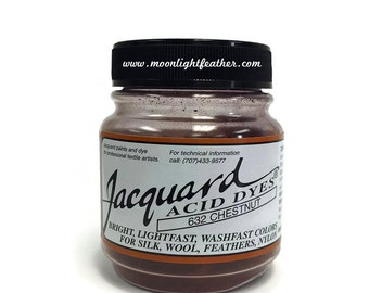 Feather, silk, wool, cashmere and Yarn Dyes - CHESTNUT Jacquard Acid Dyes - 1/2 Oz : 3738