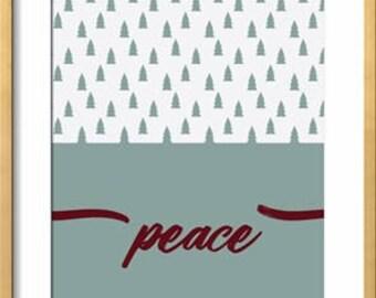 Modern Christmas - Peace