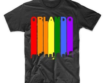 Orlando Florida Downtown Rainbow LGBT Gay Pride T-Shirt