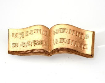 1pcs--Musical Staff, Metal Stamping, Raw Copper 45x17mm (B33-1)