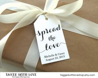 Spread the Love Tag - Jam Wedding Favor - Honey Wedding Favor - Spread Wedding Favor - Wedding Favor Ideas - Custom Tags - LARGE