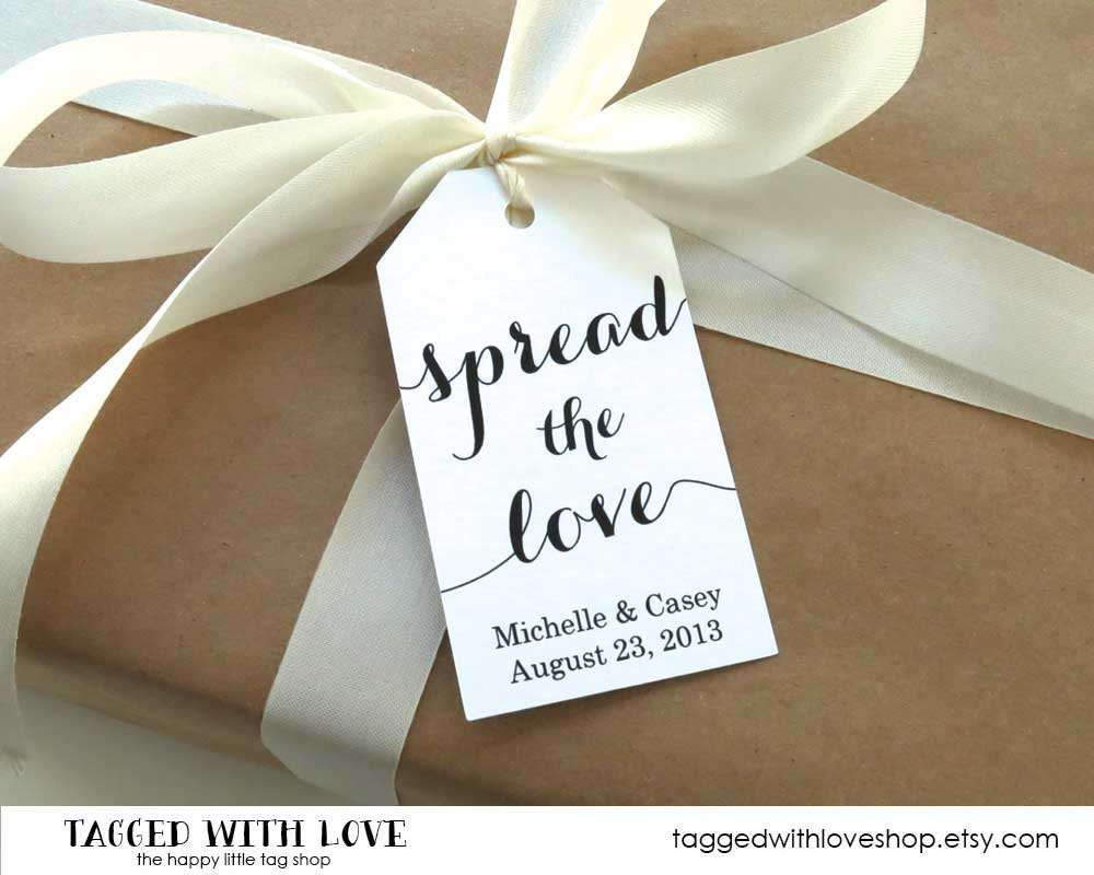Spread the Love Tag Jam Wedding Favor Honey Wedding Favor