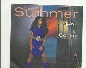 """7"""" donna summer  love is in control"""