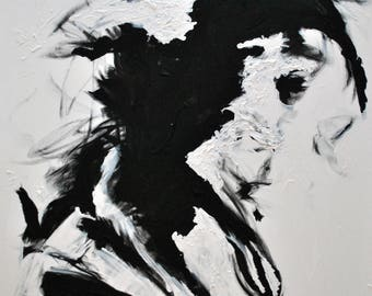 Abstract Painting, Emotional Painting, Modern Painting, Modern Decor, Contemporary Decor, Mondern Art, Acrylic on Canvas, Black and White