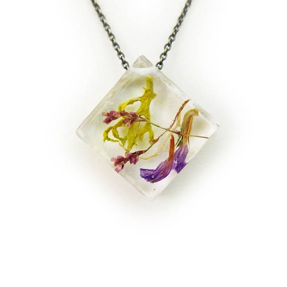 Dried Flower and Terrarium Necklace