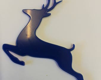 Acrylic Jumping Reindeer Shape - 3mm Laser Cut - Many Colours Available - (Solid and Tinted Acrylic)