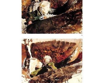 Andrew Wyeth Print - In The Orchard - 1987 Vintage Book Page - 9.5 x 11