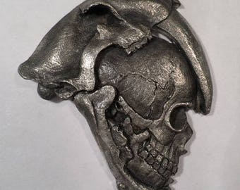 Saber tooth / Human Skull  Pendant