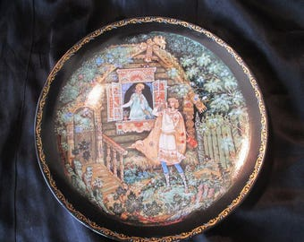 Snow Maiden - Limited Edition Russian Porcelain Plate - Kholui Style - 24k Gold