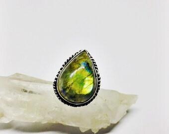 Labradorite Ring set in Sterling Silver