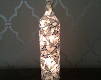 Mosaic Light Up Wine Bottle