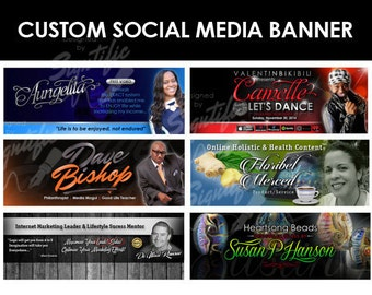 Professional social media banner, custom social media header, business social media cover, personal social media banner design in any colors