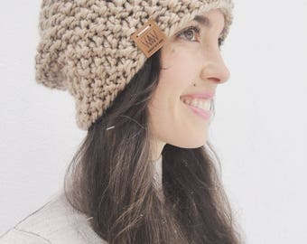 Handmade Knit Slouch Beanie | Winter Knitted Hat