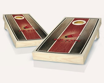 SALE - Elon Stained Striped Cornhole Set, Birthday, Tailgate, Bachelor Party Gift for Men, Husband, Boyfriend, Father, Son