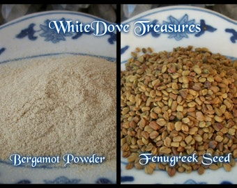 FENUGREEK SEED - BERGAMOT Powder Organic ~ Choice 1oz