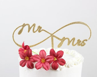 Infinity Mr/Mrs Cake Topper, Wedding Cake Toppers, Engagement, 3D Printed
