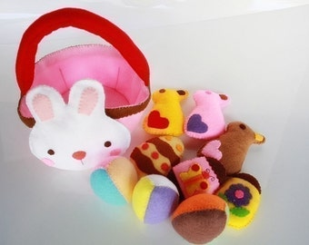 Bunny and Easter Eggs Set PDF Felt Sewing Pattern