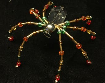 Christmas Colors Spider Ornament