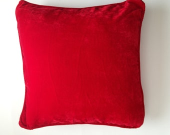 ON SALE Red Velvet Pillows, Red Velvet sofa pillows, Velvet Birthday Gifts, Velvet bed pillows