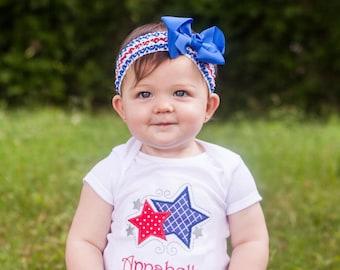 4th of July Headband.July 4th Headband.Fourth of July Headband.Bow Headband.Patriotic Headband.Baby Headband.Red White and Blue Headband