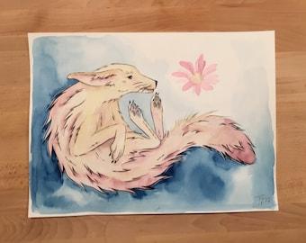 Fennec watercolor