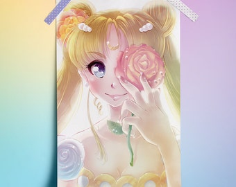 "Princess Serenity (Sailor Moon) - 11"" x 17"" Print"